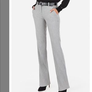 Express Light Gray Columnist Pants (10R)